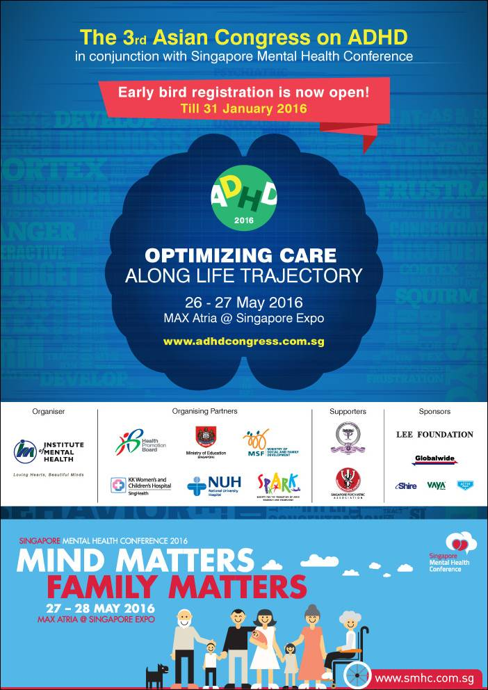 3rd Asian Congress on ADHD Singapore  26 - 27 May 2016