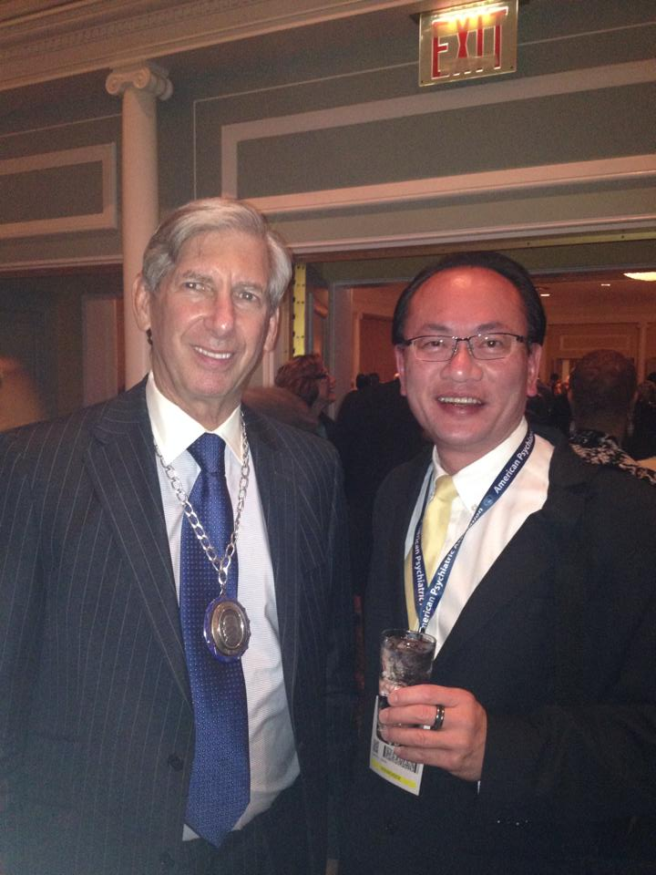 Dr Lee Cheng with Prof Lieberman