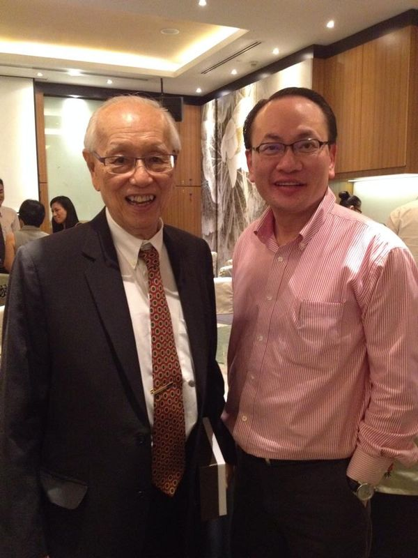 SPA AGM- Dr Paul Ngui with Dr Lee Cheng