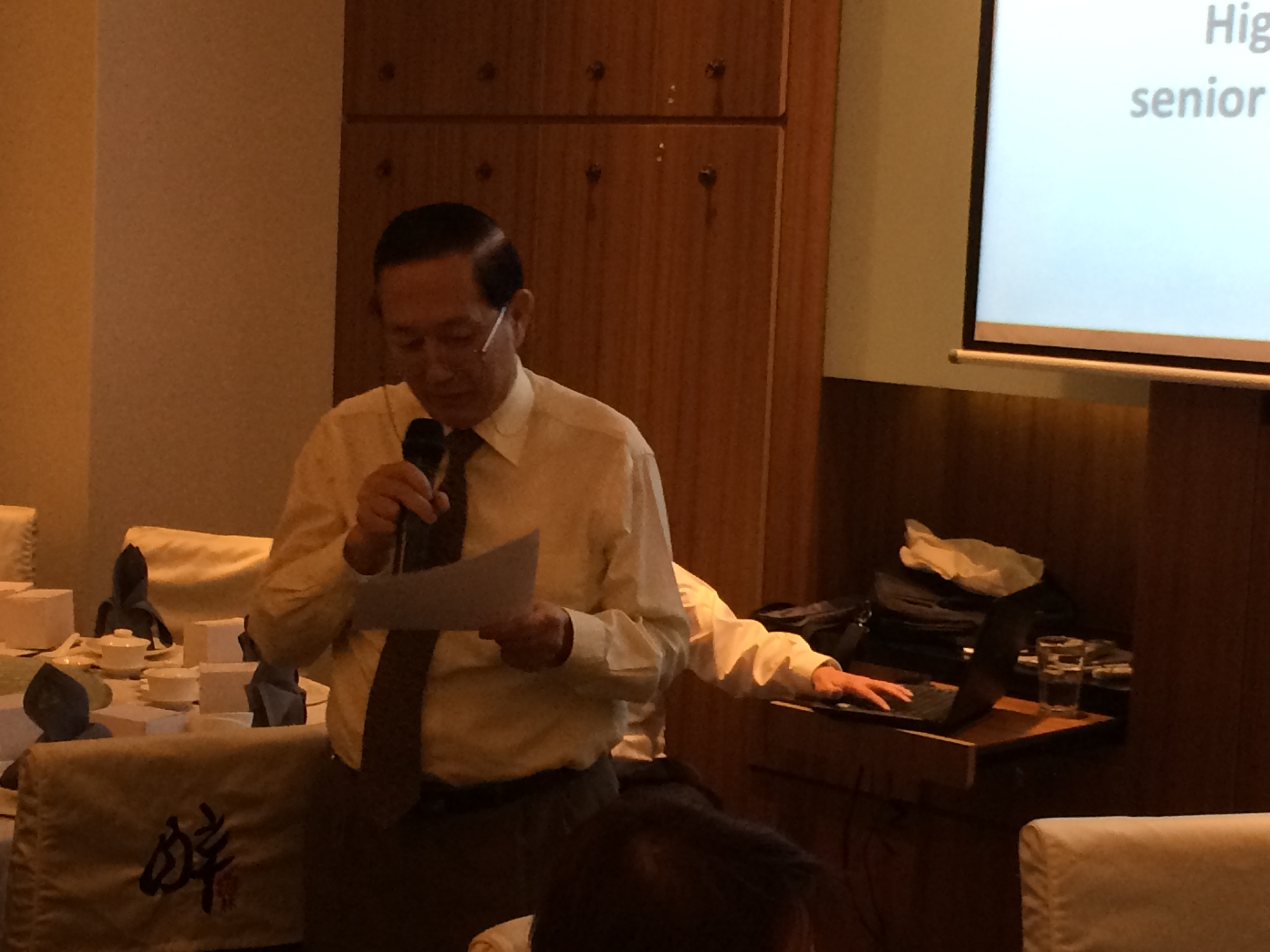 SPA AGM-Prof Wong giving citation for Dr Paul Bgui