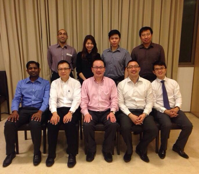 SPA Management Committee 2014/2015 Back row (R to L) Drs Abishek Abraham, Poon Shi Hui, Robin Goh, Derrick Yeo Front (R to L) Drs Raja Velloo, Ong Say How, Lee Cheng, Chan Hern Nieng, Lambert Low