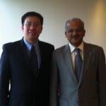 Photo with Professor Issacs